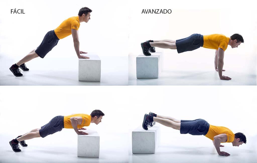 ejercicios banco flexiones