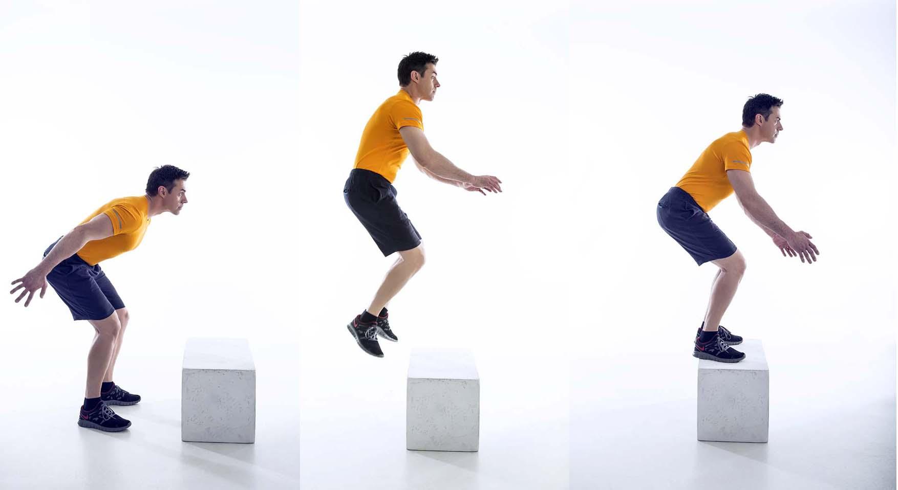 ejercicios banco box jumps