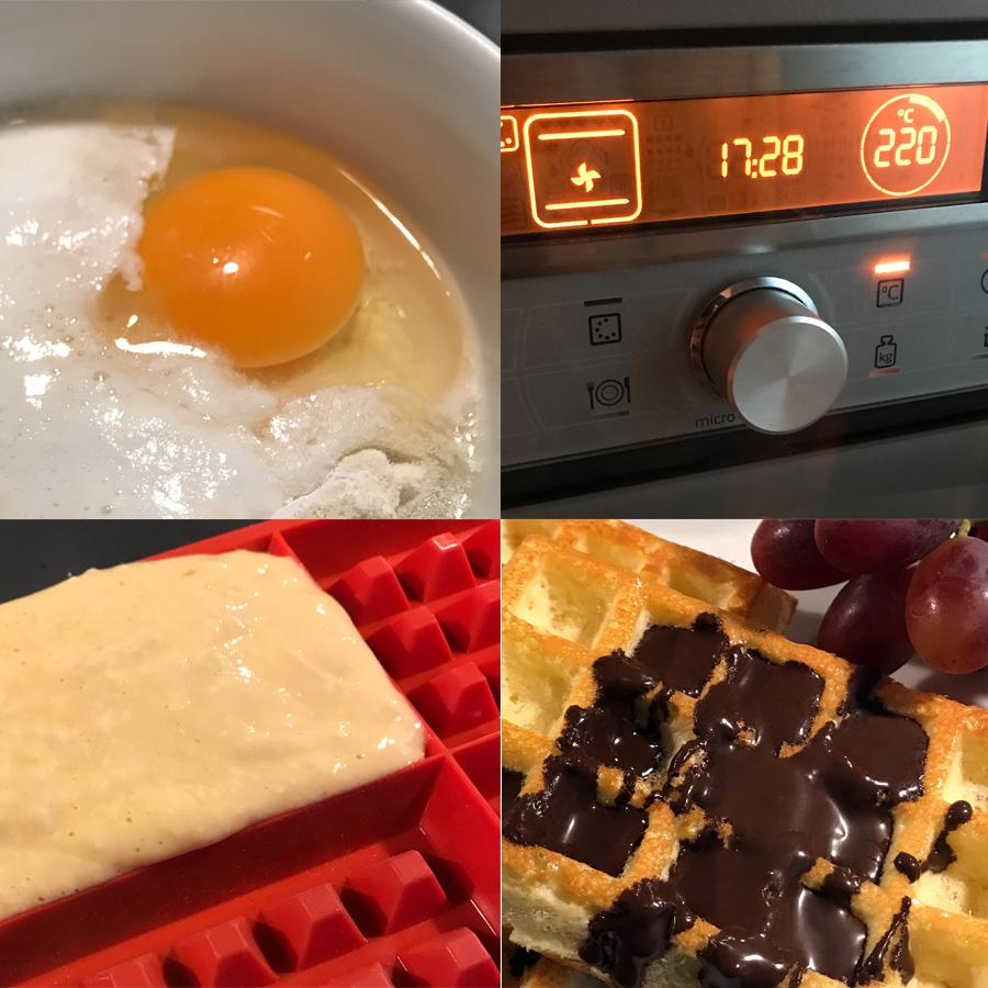 elaboración gofres proteínas