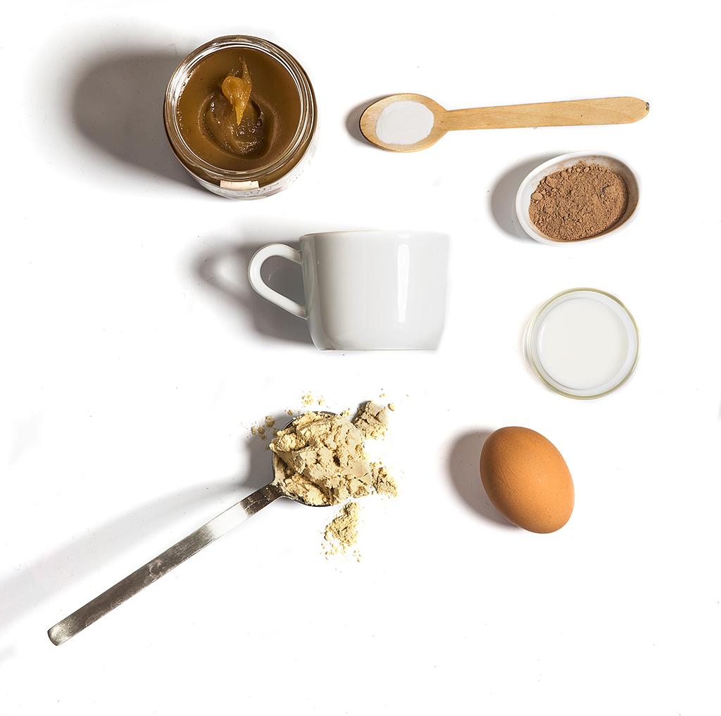 ingredientes bizcocho proteínas taza